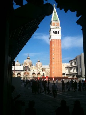The Campanile across the Piazza San Marco