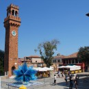 The main square on Burano island
