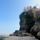 Beach, cliff and temple, Bali