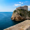 Lovrjenac fortress and the magnificent coast long Dubrovnik, Croatia