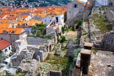 War damage in the old town, Dubrovnik, Croatia