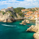 Beautiful azure water around Lovrjenac fortress, Dubrovnik, Croatia