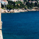 The magnificent water along the coastline of Dubrovnik, Croatia