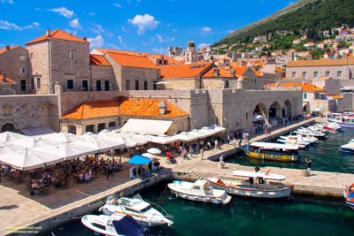 The old harbour at Dubrovnik, Croatia