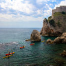 The amazing coastline and azure water around Dubrovnik, Croatia