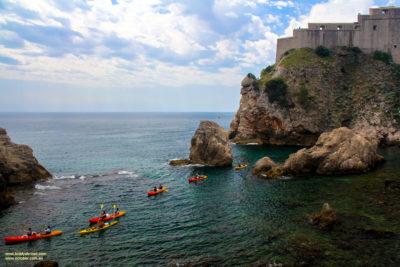The amazing coastline and azure water around Dubrovnik, Croatia