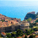 Across the old town to the azure waters of the Adriatic, Dubrovnik, Croatia