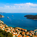 Across Dubrovnik to the azure waters of the Adriatic.