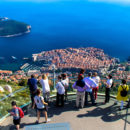 Looking down on old Dubrovnik from the top of the cable car