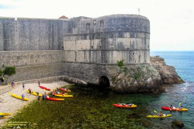Old town, Dubrovnik, Croatia, and the beautiful azure coast.