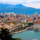 Split, Croatia - beautiful harbour and old town