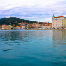 Split, Croatia, across the harbour toward Marjan.