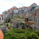 War damage in Dubrovnik, Croatia