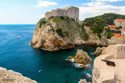 Lovrjenac fortress and the magnificent coast long Dubrovnik, Croatia