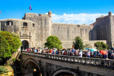 Pile Gate, the main western gateway into old Dubrovnik, Croatia