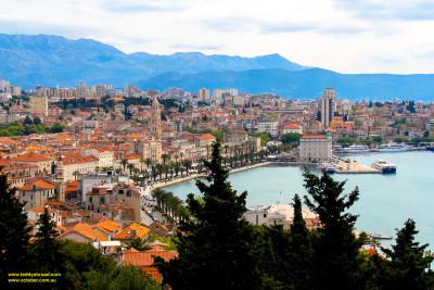 Split, Croatia - beautiful harbour and old town