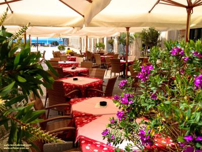 Trg Republike (Republic Square) restaurants, Split, Croatia