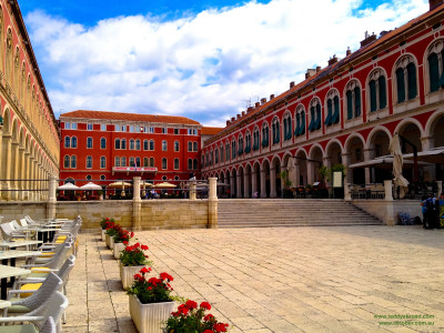Trg Republike (Republic Square), also known as Prokurative Square, Split, Croatia