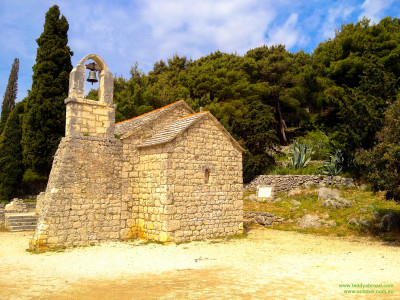 The church of St. Nikola, on the south-eastern slope of Marjan, outside of Split, Croatia, dates back to the 14th century.